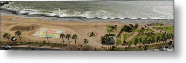 Miraflores Beach Panorama Metal Print