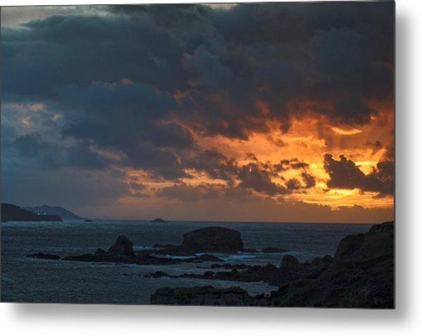 Mirandas Islands Galicia Spain Metal Print
