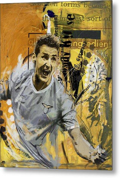 Miroslav Klose - B Metal Print