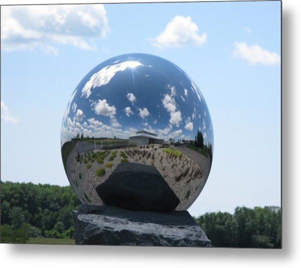 Mirror Ball Metal Print