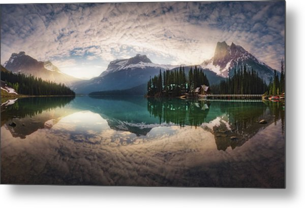 Mirror Emerald Metal Print