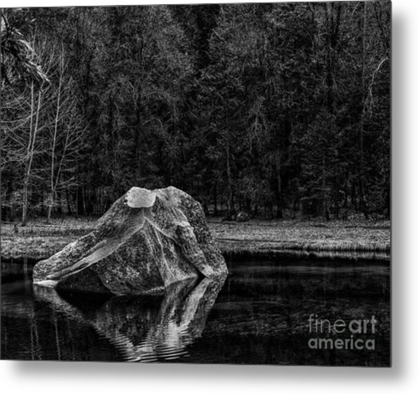 Mirror Lake Boulder Metal Print