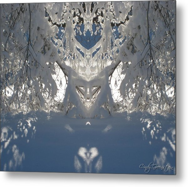 Mirror Of Snow  Metal Print