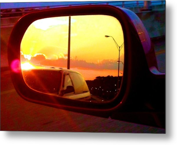 Mirror Sunset Metal Print