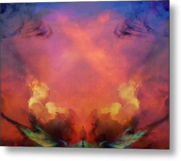 Mirrored Sky Metal Print