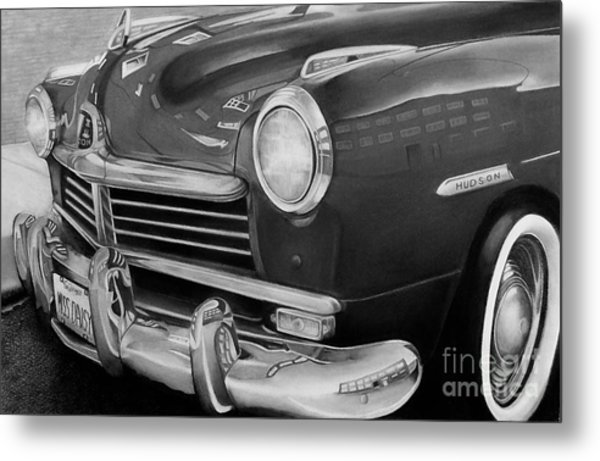 Miss Daisy Black And White Metal Print