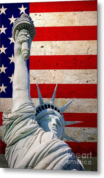 Miss Liberty 2 Metal Print