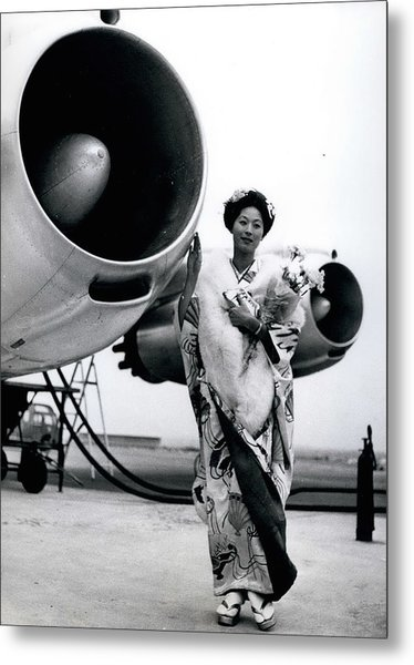 Miss Universe Opens Polar Route Of Air Franc Metal Print by Retro Images Archive