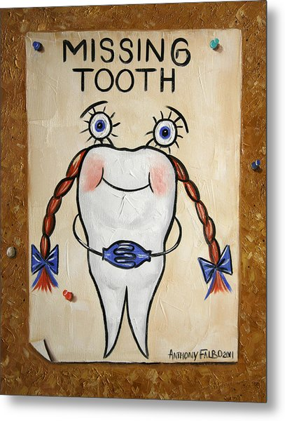 Missing Tooth Metal Print
