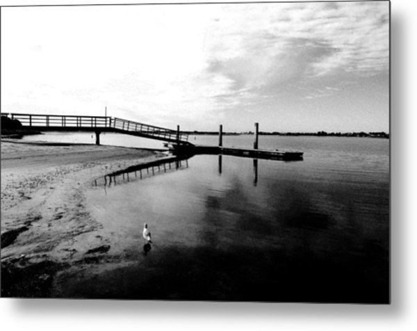 Mission Bay Dock Metal Print