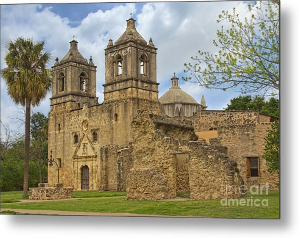 Metal Print featuring the photograph Mission Concepcion by Jemmy Archer
