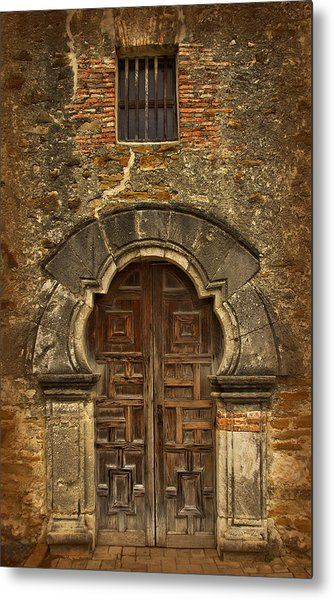 Metal Print featuring the photograph Mission Espada Doorway by Jemmy Archer