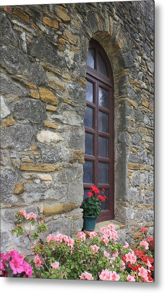 Mission Espada Window Metal Print