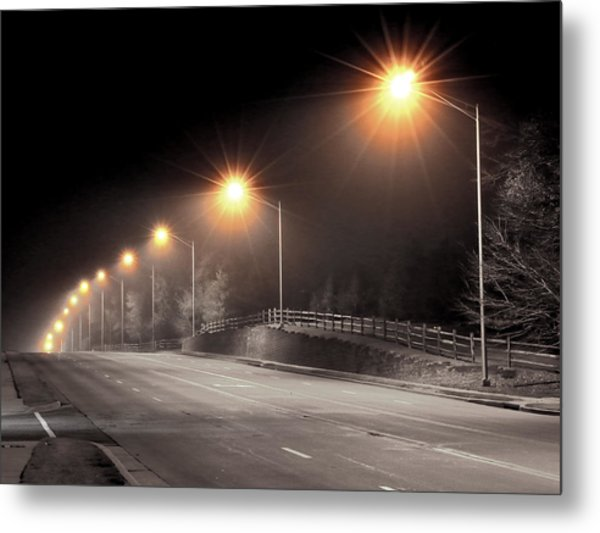 Mission Road Metal Print