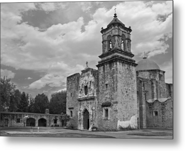 Metal Print featuring the photograph Mission San Jose Bw by Jemmy Archer