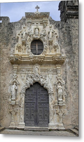 Metal Print featuring the photograph Mission San Jose Doorway by Jemmy Archer