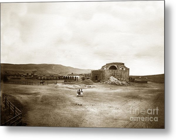 Mission San Juan Capistrano California Circa 1882 By C. E. Watkins Metal Print