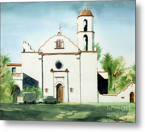 Mission San Luis Rey Colorful II Metal Print