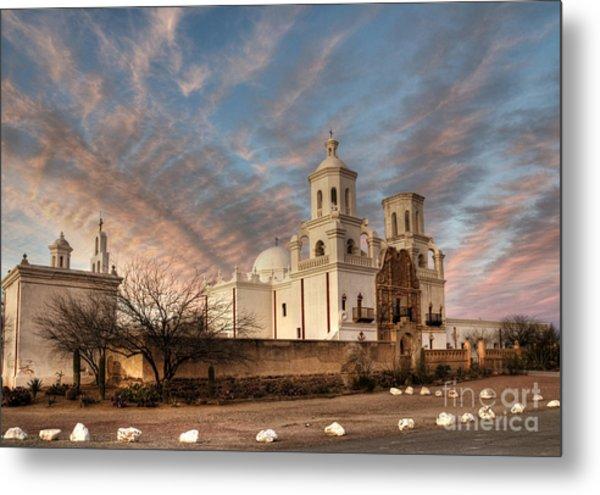 Mission San Xavier Del Bac Metal Print
