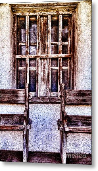 Mission Soledad Window Seating By Diana Sainz Metal Print