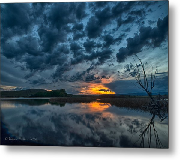 Mission Valley Sunset Metal Print