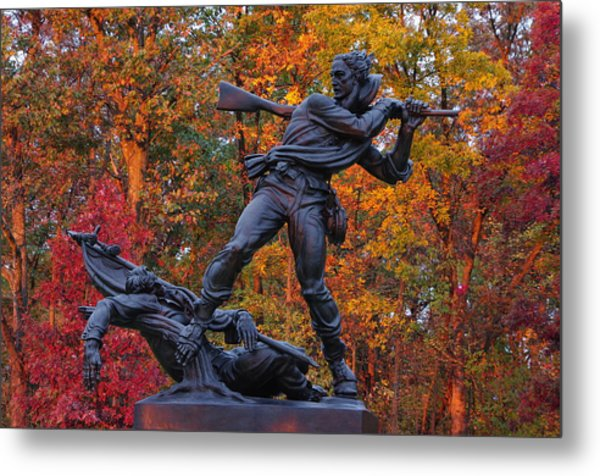 Mississippi At Gettysburg - The Rage Of Battle No. 1 Metal Print