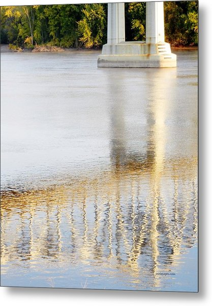 Mississippi Reflection Metal Print