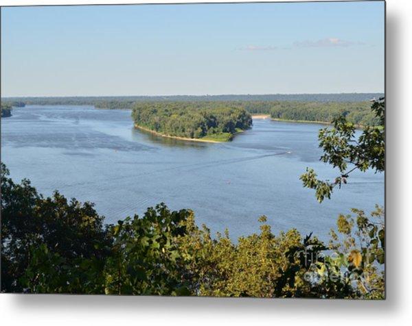 Mississippi River Overlook Metal Print