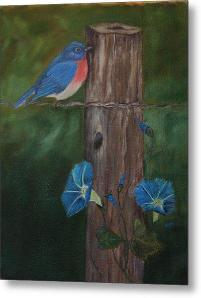 Missouri Blue Bird II Metal Print