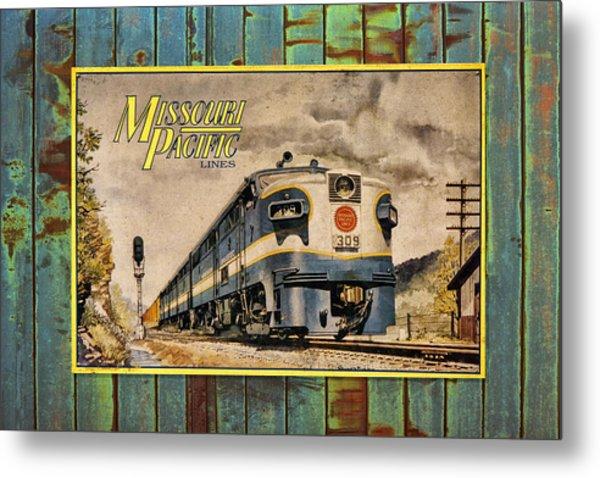 Missouri Pacific Lines Sign Engine 309 Dsc02854 Metal Print
