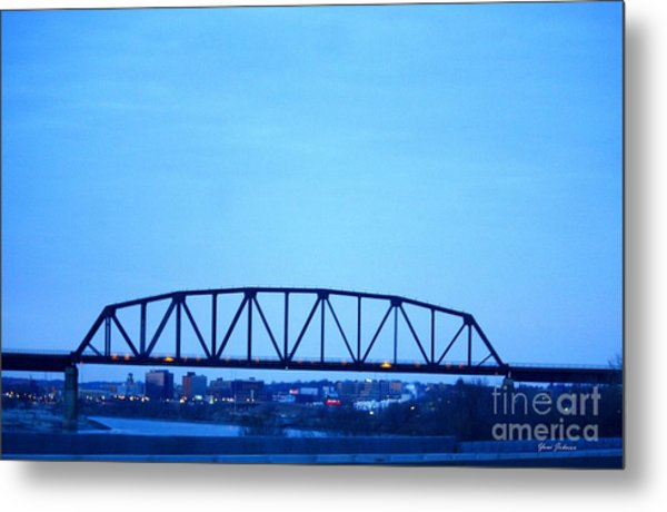 Missouri River At Dusk Metal Print