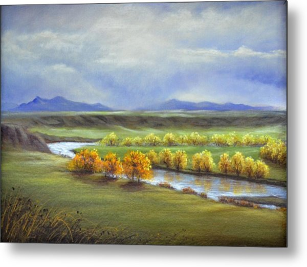 Missouri River At Fort Benton Metal Print