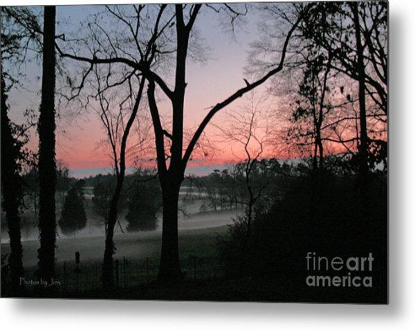 Mist At Sunset Metal Print by Jinx Farmer
