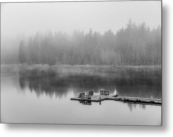 Mist On Lake Metal Print