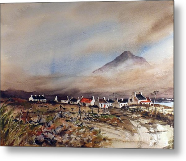Mist Over Dugort Achill Island Mayo Metal Print
