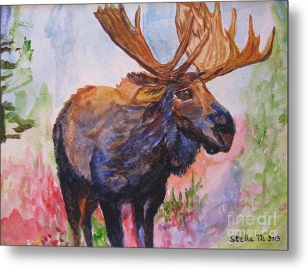 Mister Moose Metal Print