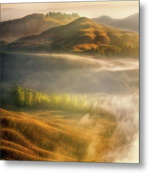 Mists... Metal Print by Krzysztof Browko
