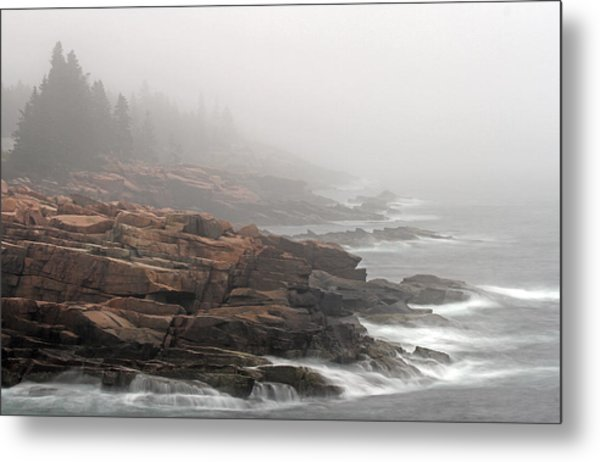 Misty Acadia National Park Seacoast Metal Print by Juergen Roth