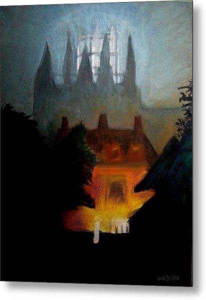 Misty Castle Metal Print