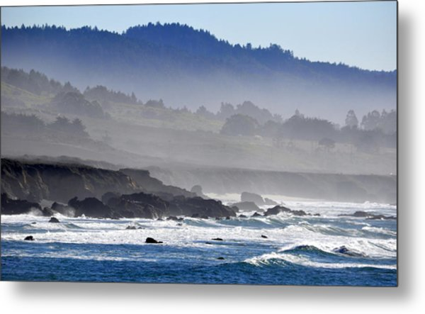 Misty Coast Metal Print