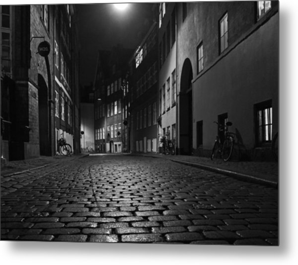 Misty Copenhagen Night Metal Print