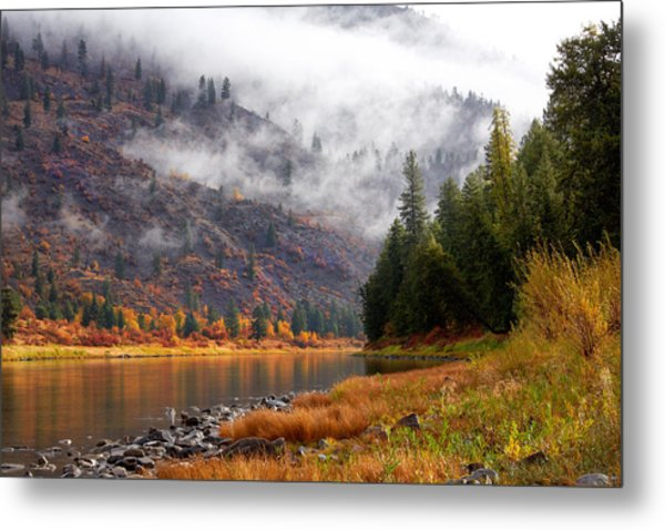 Misty Montana Morning Metal Print