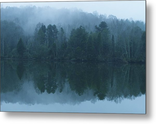 Misty Morning On The Clinch River Metal Print