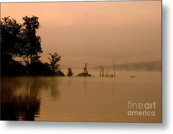 Misty Morning Solitude  Metal Print