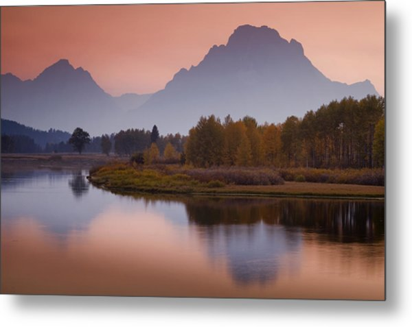 Misty Mountain Evening Metal Print by Andrew Soundarajan