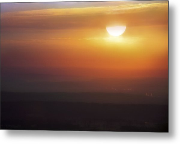 Misty Peaks And Valleys Under The Rising Sun - Mt. Nebo - Arkansas Metal Print