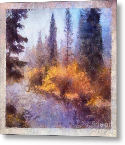 Misty River Afternoon Metal Print