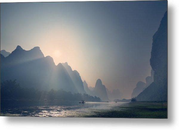 Misty Sunrise 3 Metal Print