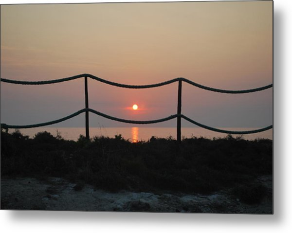 Misty Sunset 1 Metal Print