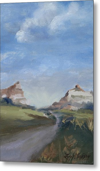 Mitchell Pass In Portrait Metal Print by Leigh Morrison
